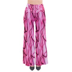 An Unusual Background Photo Of Black Swirls On Pink And Magenta Pants