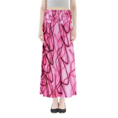 An Unusual Background Photo Of Black Swirls On Pink And Magenta Maxi Skirts