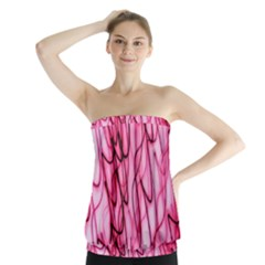 An Unusual Background Photo Of Black Swirls On Pink And Magenta Strapless Top