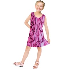 An Unusual Background Photo Of Black Swirls On Pink And Magenta Kids  Tunic Dress