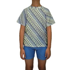 Abstract Seamless Pattern Kids  Short Sleeve Swimwear
