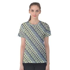 Abstract Seamless Pattern Women s Cotton Tee