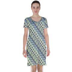 Abstract Seamless Pattern Short Sleeve Nightdress