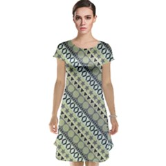 Abstract Seamless Pattern Cap Sleeve Nightdress