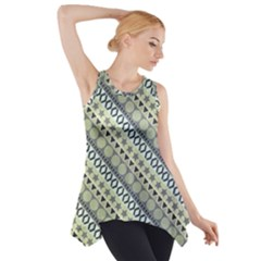 Abstract Seamless Pattern Side Drop Tank Tunic