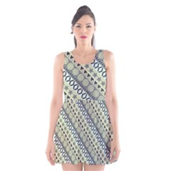 Abstract Seamless Pattern Scoop Neck Skater Dress