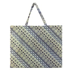Abstract Seamless Pattern Zipper Large Tote Bag