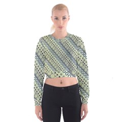 Abstract Seamless Pattern Women s Cropped Sweatshirt