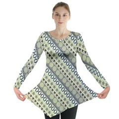 Abstract Seamless Pattern Long Sleeve Tunic