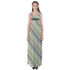 Abstract Seamless Pattern Empire Waist Maxi Dress