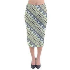 Abstract Seamless Pattern Midi Pencil Skirt