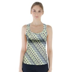 Abstract Seamless Pattern Racer Back Sports Top