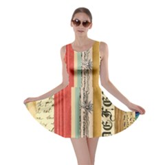 Digitally Created Collage Pattern Made Up Of Patterned Stripes Skater Dress
