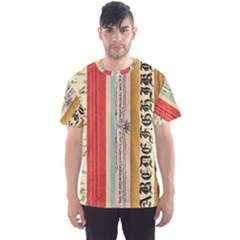 Digitally Created Collage Pattern Made Up Of Patterned Stripes Men s Sport Mesh Tee