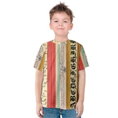 Digitally Created Collage Pattern Made Up Of Patterned Stripes Kids  Cotton Tee