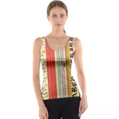 Digitally Created Collage Pattern Made Up Of Patterned Stripes Tank Top