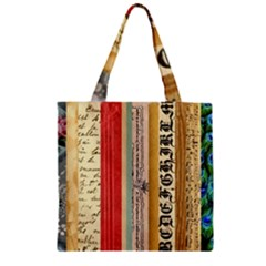 Digitally Created Collage Pattern Made Up Of Patterned Stripes Zipper Grocery Tote Bag