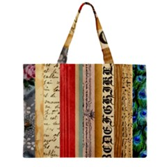 Digitally Created Collage Pattern Made Up Of Patterned Stripes Zipper Mini Tote Bag