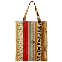 Digitally Created Collage Pattern Made Up Of Patterned Stripes Zipper Classic Tote Bag