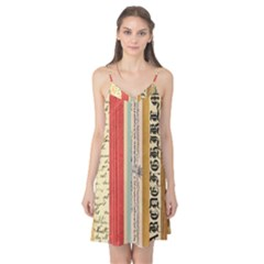 Digitally Created Collage Pattern Made Up Of Patterned Stripes Camis Nightgown