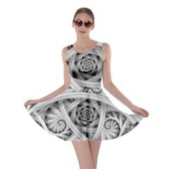 Fractal Wallpaper Black N White Chaos Skater Dress
