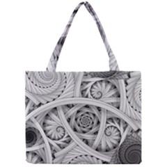 Fractal Wallpaper Black N White Chaos Mini Tote Bag