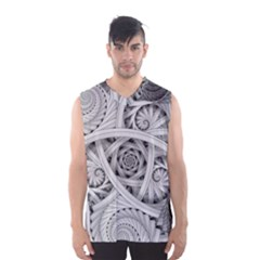 Fractal Wallpaper Black N White Chaos Men s Basketball Tank Top