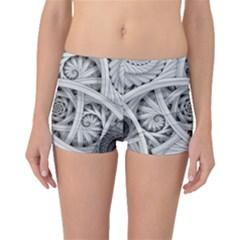 Fractal Wallpaper Black N White Chaos Boyleg Bikini Bottoms