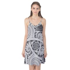 Fractal Wallpaper Black N White Chaos Camis Nightgown