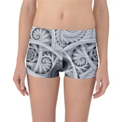 Fractal Wallpaper Black N White Chaos Reversible Bikini Bottoms