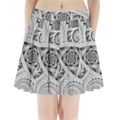 Fractal Wallpaper Black N White Chaos Pleated Mini Skirt