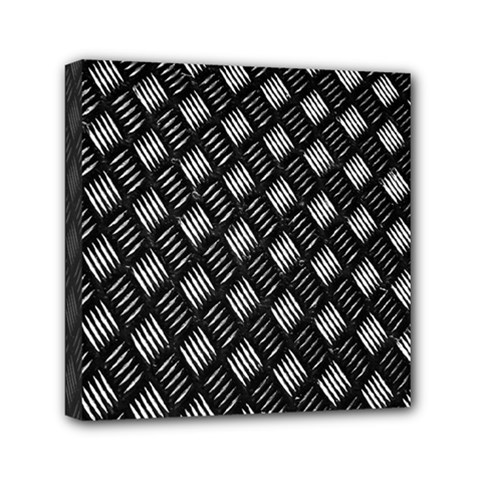 Abstract Of Metal Plate With Lines Mini Canvas 6  X 6
