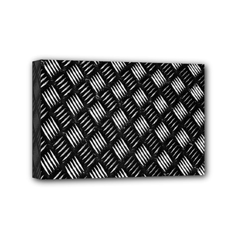 Abstract Of Metal Plate With Lines Mini Canvas 6  X 4