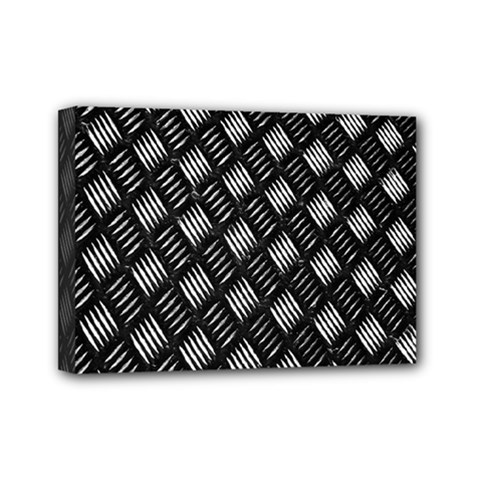 Abstract Of Metal Plate With Lines Mini Canvas 7  X 5