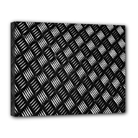 Abstract Of Metal Plate With Lines Canvas 14  X 11