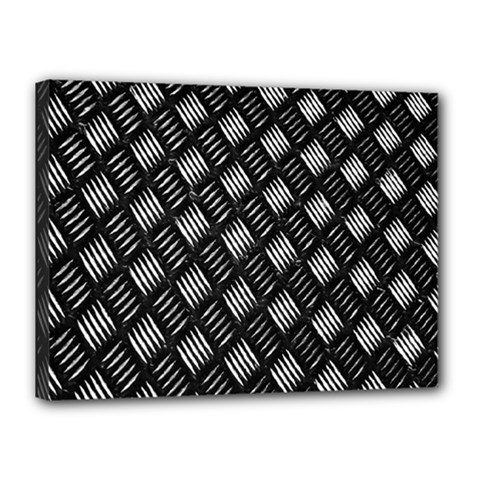 Abstract Of Metal Plate With Lines Canvas 16  X 12