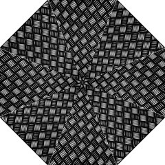 Abstract Of Metal Plate With Lines Folding Umbrellas