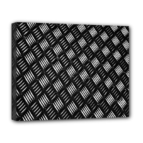 Abstract Of Metal Plate With Lines Deluxe Canvas 20  X 16