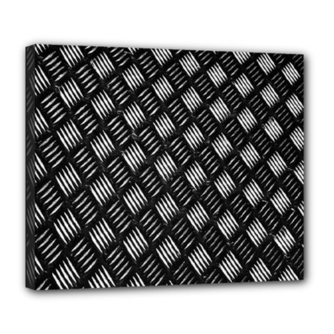Abstract Of Metal Plate With Lines Deluxe Canvas 24  x 20