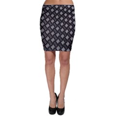 Abstract Of Metal Plate With Lines Bodycon Skirt
