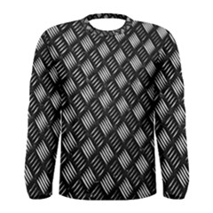 Abstract Of Metal Plate With Lines Men s Long Sleeve Tee