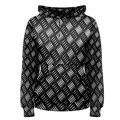 Abstract Of Metal Plate With Lines Women s Pullover Hoodie