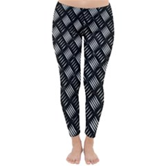 Abstract Of Metal Plate With Lines Classic Winter Leggings