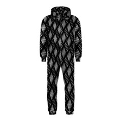 Abstract Of Metal Plate With Lines Hooded Jumpsuit (Kids)