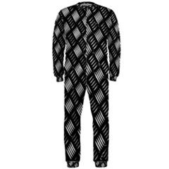 Abstract Of Metal Plate With Lines Onepiece Jumpsuit (men)