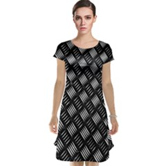 Abstract Of Metal Plate With Lines Cap Sleeve Nightdress