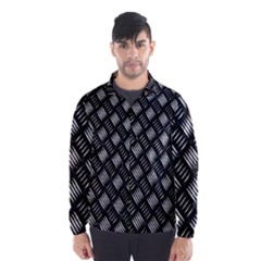 Abstract Of Metal Plate With Lines Wind Breaker (Men)