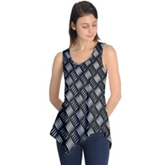 Abstract Of Metal Plate With Lines Sleeveless Tunic