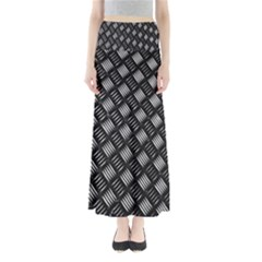 Abstract Of Metal Plate With Lines Maxi Skirts