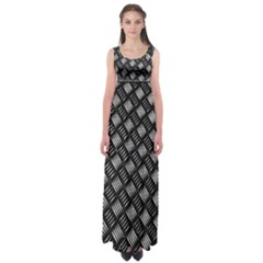 Abstract Of Metal Plate With Lines Empire Waist Maxi Dress